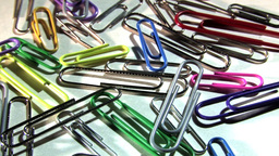 Colourful Paper Clips In Motion Stock Video Footage