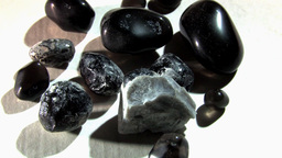 Natural Rocks And Stones In Circular Motion Stock Video Footage
