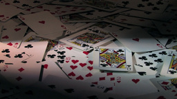 Horizontal Scan Of A Random Pile Of Cards - High... Stock Video Footage