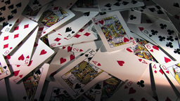 Rotating Pile Of Cards With No New Cards Added - High... Stock Video Footage