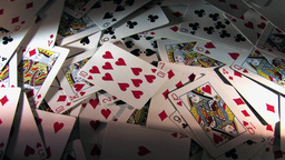 Rotating Pile Of Cards - High Definition Version Stock Video Footage