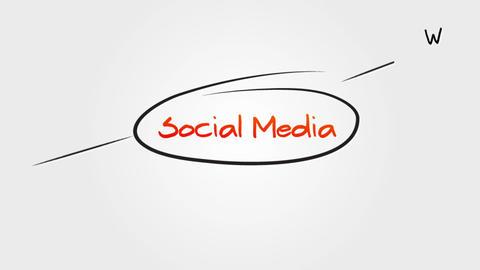 Social Media Sitemap Stock Video Footage