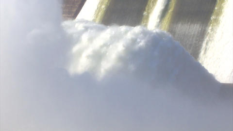 Hydroelectric Power Station in foggy, loop Stock Video Footage
