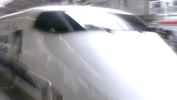 High-speed train departs Stock Video Footage