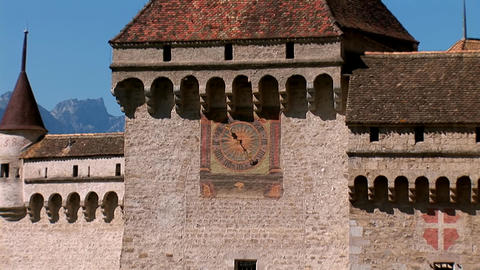 Chillon Castle I Stock Video Footage