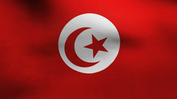 Tunisia Country Flag stock footage
