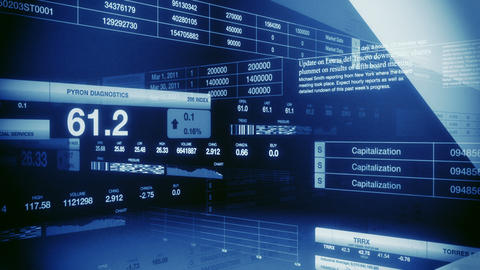 Stock Market Tickers Blue Seamless Loop Stock Video Footage