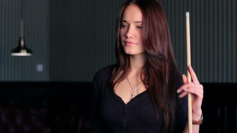 Flirting Young Woman Stock Video Footage