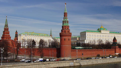 Moscow Kremlin Palace Stock Video Footage