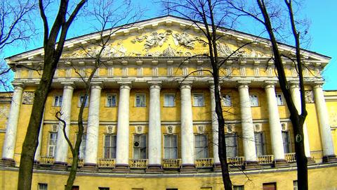 The main Admiralty in Saint-Petersburg Stock Video Footage