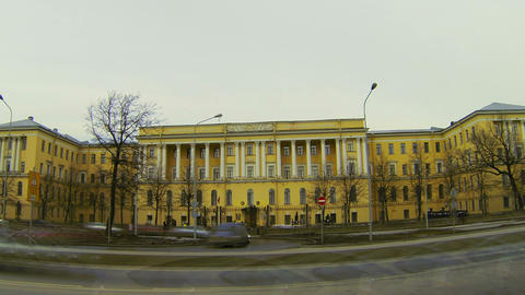 Mikhailovsky military artillery Academy in St. Petersburg Footage