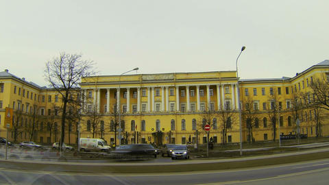 Mikhailovsky military artillery Academy in St. Petersburg Stock Video Footage