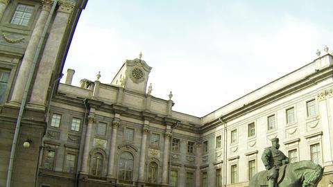 Monument to Emperor Alexander III in Saint-Petersburg Stock Video Footage