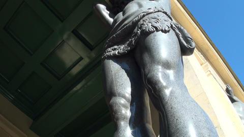 Sculpture of the Atlanteans in St. Petersburg Footage