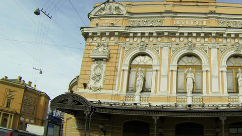Circus on Fontanka river in Saint-Petersburg Footage