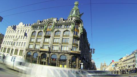 Zinger house in Saint-Petersburg Stock Video Footage