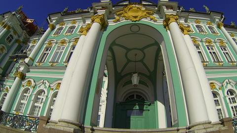 State Hermitage museum in St. Petersburg Stock Video Footage