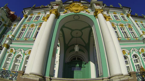 State Hermitage museum in St. Petersburg Stock Video Footage