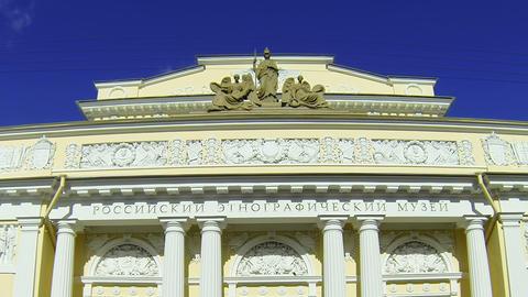 The ethnographic Museum in Saint-Petersburg Stock Video Footage
