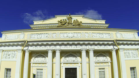 The ethnographic Museum in Saint-Petersburg Footage