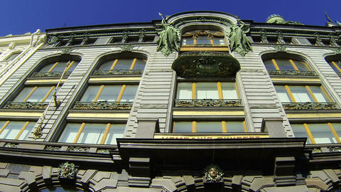 The book house in St.-Petersburg. Zinger House Stock Video Footage