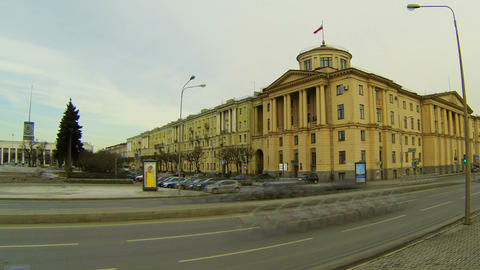 Finlyandsky railway station in St. Petersburg Footage