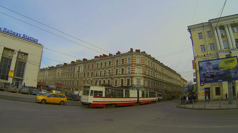Finlyandsky railway station in St. Petersburg Stock Video Footage