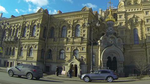 Christian church in Petersburg Stock Video Footage
