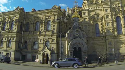 Christian church in Petersburg Stock Video Footage