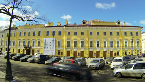 Mikhailovsky theatre of Opera and ballet in Saint-Petersburg Stock Video Footage