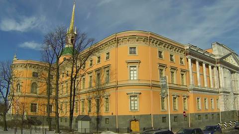 Mikhailovsky castle in St. Petersburg Footage