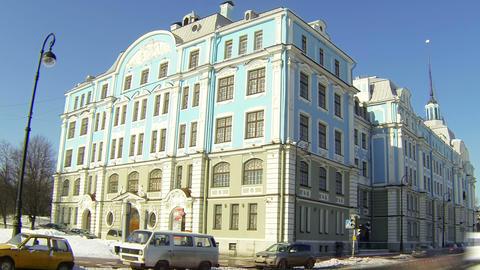 Nakhimov school in St. Petersburg Footage
