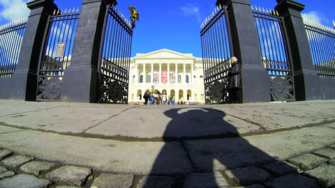 State Russian Museum in St. Petersburg Stock Video Footage