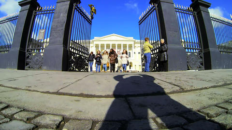State Russian Museum In St. Petersburg stock footage