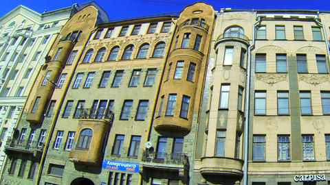 Facade of an old building in St. Petersburg. Shpalernaya... Stock Video Footage