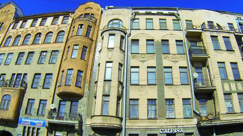 Facade of an old building in St. Petersburg. Shpalernaya street Footage