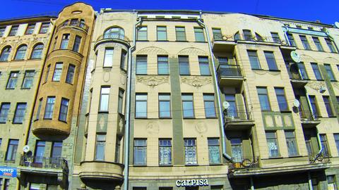 Facade of an old building in St. Petersburg. Shpalernaya... Stock Video Footage