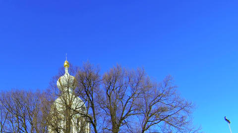The Smolny Cathedral in St. Petersburg Stock Video Footage