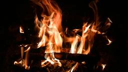 Blaze burning Stock Video Footage
