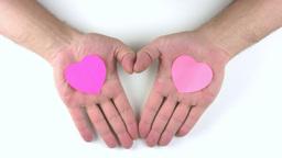 Three hearts Stock Video Footage