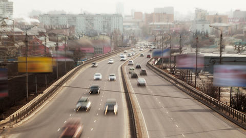 Urban road, Time Lapse, Long Exposure Stock Video Footage