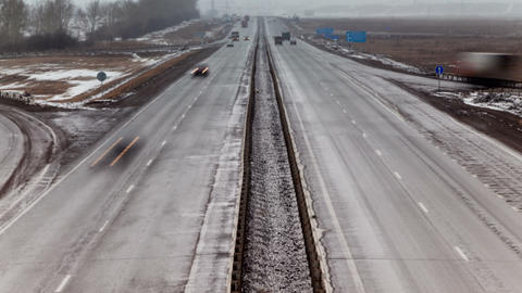 Highway, Time Lapse, Long Exposure Stock Video Footage