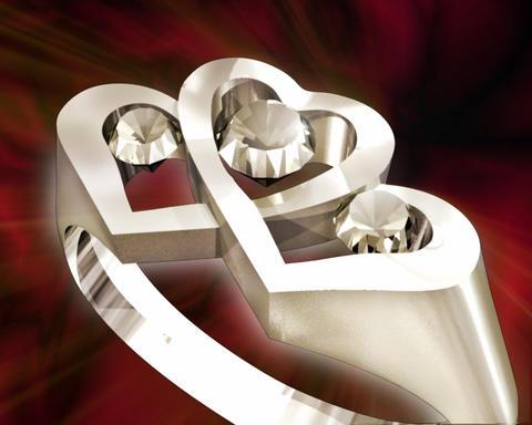 Three Diamonds Stock Video Footage