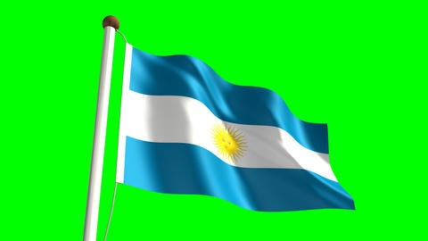 Argentina flag Stock Video Footage