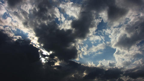 Grey clouds Stock Video Footage