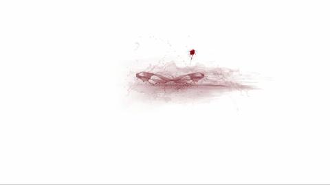 刀、切られる、血が飛び散る Stock Video Footage
