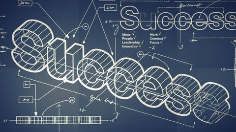 A Blueprint For Success Smooth Camera Pan And Zoom stock footage