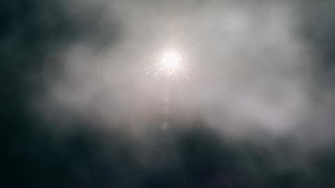 Sun Peeking Through Stormy Clouds Loop Animation