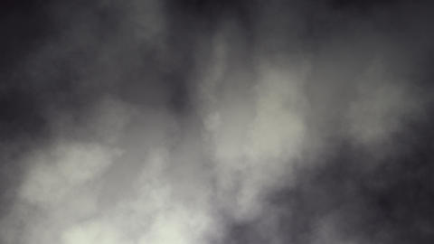 Dark Swirling Smoky Clouds Looping Animation Stock Video Footage