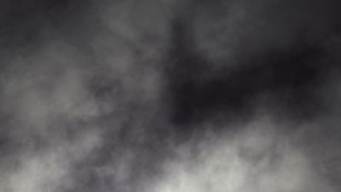 Dark Swirling Smoky Clouds Looping Animation Stock Video Footage